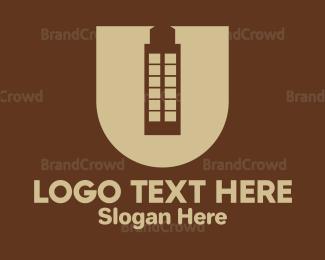 Condominium - Violet Building Letter U logo design