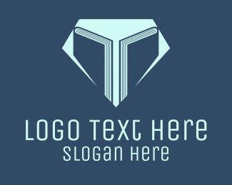 Lesson - Education Diamond Books logo design
