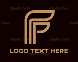 Corporation - Beige F Stroke logo design