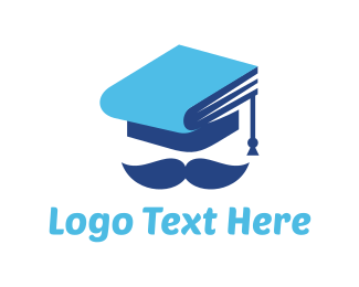 Graduation - Education Graduation Hat Man logo design