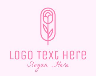 Cosmetics - Pink Rose Cosmetics  logo design