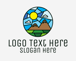 Mountain - Outdoor Mountain Mosaic logo design