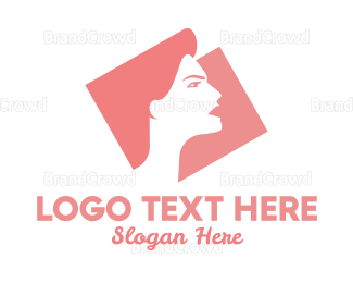 Silhouette - Strong Woman Silhouette logo design