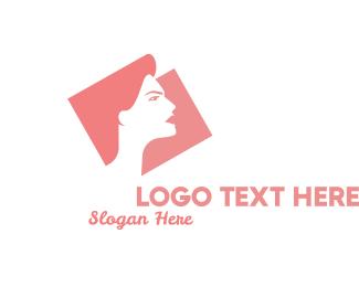 Leadership - Strong Woman Silhouette logo design