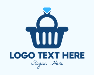 Proposal - Diamond Ring Shopping Basket logo design
