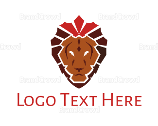 Carnivore - Elegant Crown Lion logo design