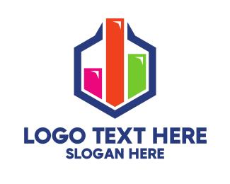 Businessman - Colorful Hexagon Chart logo design