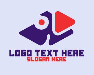 Digital Media - Dog Play Media logo design