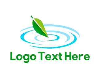 Pond - Leaf Pond logo design