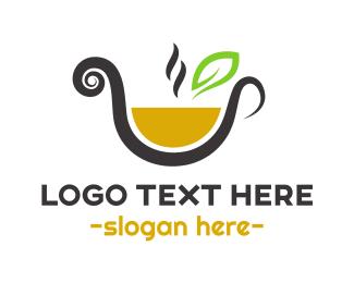 Herbal - Orange Tea logo design
