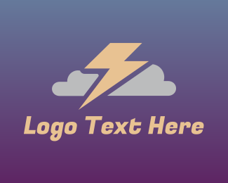 Forecast - Stormy Cloud logo design