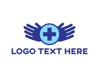 First Aid - Healing Hands logo design