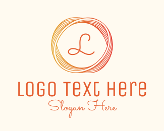 Rope - Abstract Circle Lettermark logo design