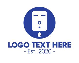Lotion - Blue Liquid Soap Dispenser logo design