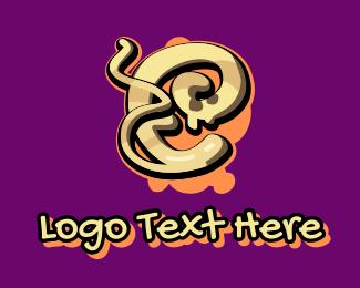 Graffiti - Graffiti Art Letter E logo design