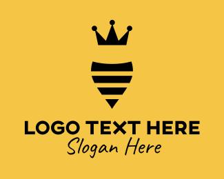 Minimalist Queen Bee Logo