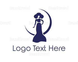 Jacket - Blue Feminine Moon logo design