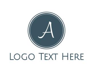 Blue Circle - Blue A Circle logo design