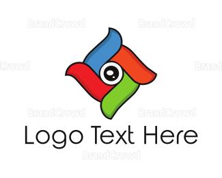 Editor - Colorful Shutter logo design