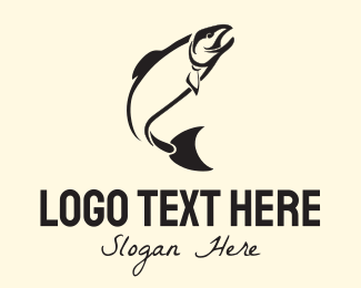 Salmon - Vintage Black Tuna logo design