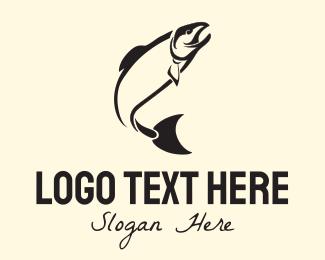 Salmon - Black Tuna logo design