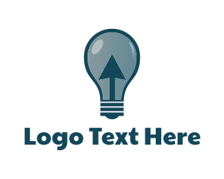 Cursor - Click & Light  logo design