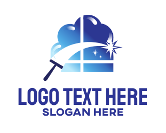 Window Cleaning - Blue Comet Window Cleaning logo design