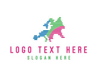 Tourist - Europe Map logo design