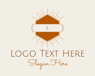 Spectrum - Sunshine Hexagon Lettermark logo design