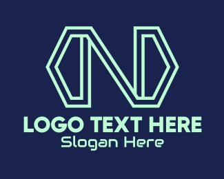 Exchange - Tech Arrow Letter N  logo design