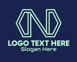Transfer - Tech Arrow Letter N logo design
