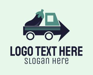 Bush - Eggplant Truck Delivery logo design