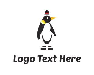 Penguin - Penguin & Hat logo design