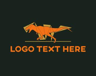 Dinosaur - Orange Dinosaur logo design