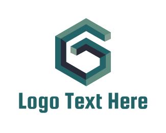3d Printing - Geometric Letter G logo design