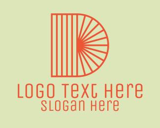 Lines - Letter D Sunshine Ray logo design