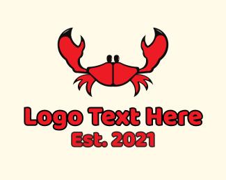 Crab - Red Small Crab logo design