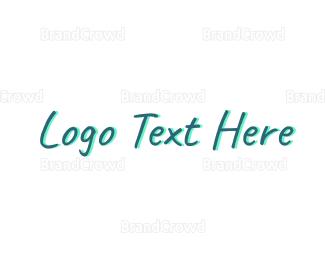 Casual - Blue Script  logo design