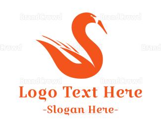 Goose - Fire Swan logo design