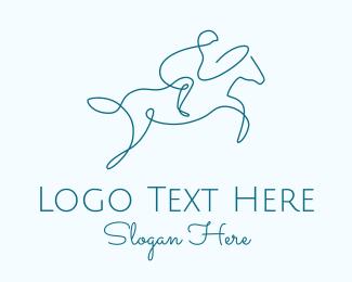 Horse Racing - Monoline Horse Race logo design