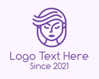 Stylist - Purple Girl Stylist logo design