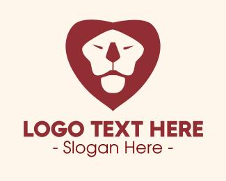 Safari Zoo - Lion Heart logo design