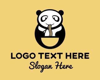 Noodle Soup - Panda Noodle House logo design
