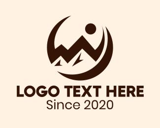 Mountain Top - Mountain Outdoor Circle logo design