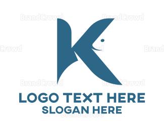 Letter K - Aquatic Letter K logo design