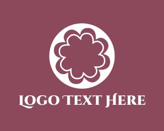 Cherry Blossom - White Flower logo design