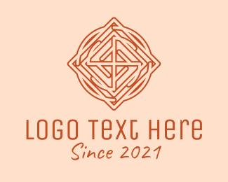 Viking - Geometric Viking Tile logo design