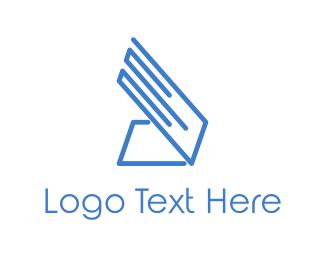 Pc - Blue Laptop logo design