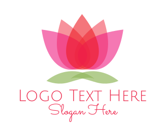Aesthetic - Gradient Flower logo design