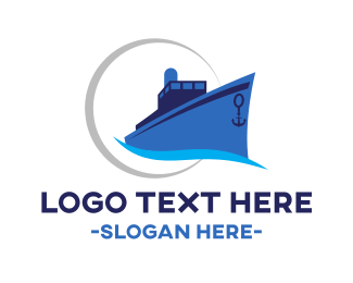 Cruise Ship - Blue Cruiser logo design